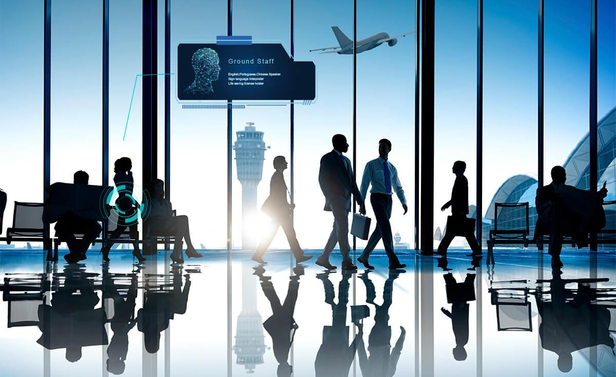 空港ターミナルでの位置測位による業務効率化