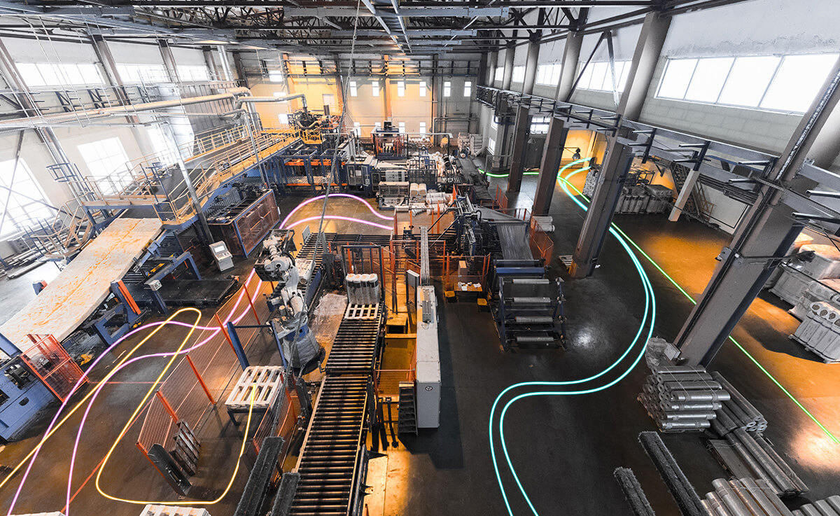 工場や倉庫の位置測位による業務効率化